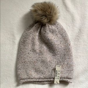 Madewell beanie with Pom Pom NEW